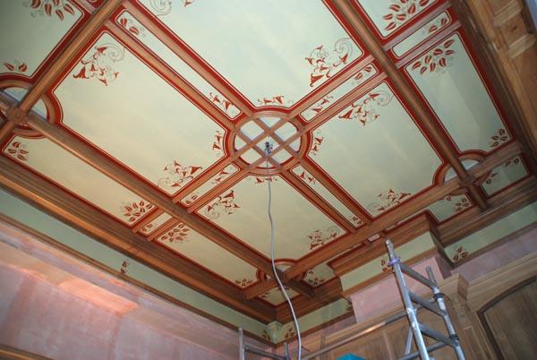 Muurschildering wim de prez beschilderd plafond for Decoration plafond interieur