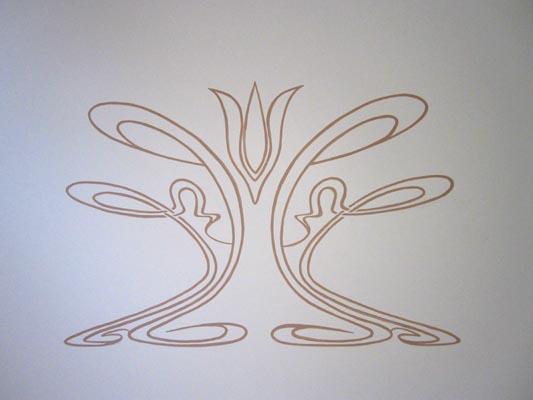 Pin art nouveau 1 on pinterest - Grijze muur deco ...