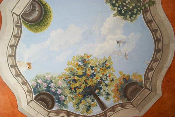 Peinture Murale Trompe L Oeil peinture murale trompe l'oeil wim de prez plafond