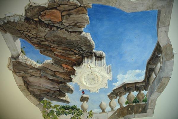 peinture murale trompe l 39 oeil wim de prez plafond