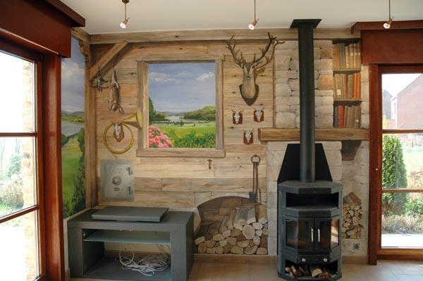 trompe l 39 oeil peinture murale wim de prez le chalet. Black Bedroom Furniture Sets. Home Design Ideas