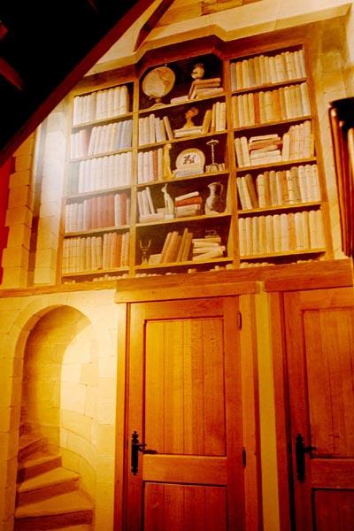 trompe l 39 oeil peinture murale wim de prez scriptorium. Black Bedroom Furniture Sets. Home Design Ideas