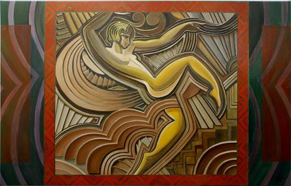 Art deco drieluik - Deco schilderij gang ...
