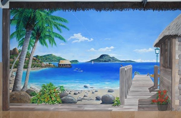 Muurschildering artistpainter wim de prez geschilderde opening in de muur - Nieuw muurschildering ...
